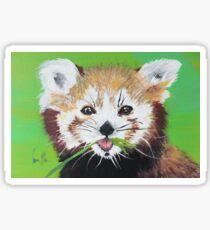 Seeing Red (Panda) Sticker