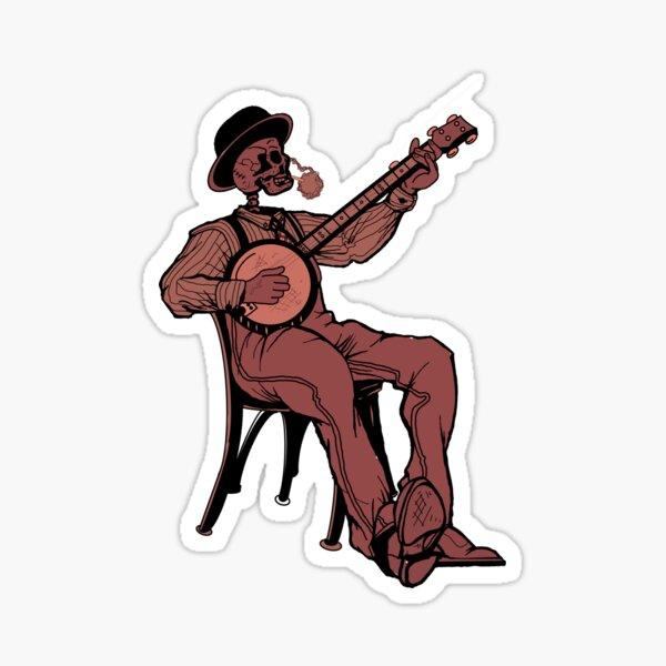 Skeleton Pickin' Sticker