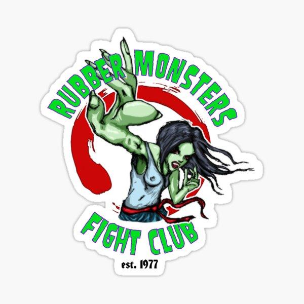 Rubber Monsters Fight Club Vampire Girl Sticker