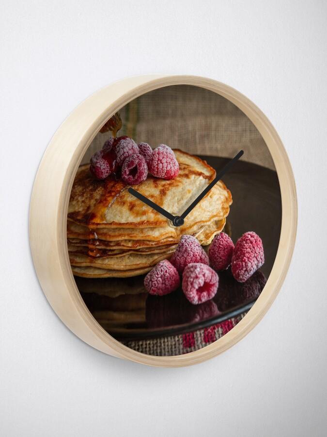 Alternate view of raspberry pancakes Clock