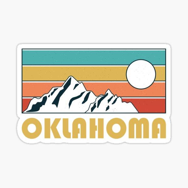 Oklahoma Retro Vintage - Oklahoma Mountain Souvenir - Gift - Hometown - Hiking - Nature Sticker
