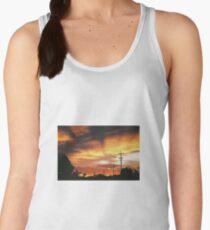 Firey Sunset Streetscape Women's Tank Top