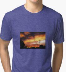 Firey Sunset Streetscape Tri-blend T-Shirt