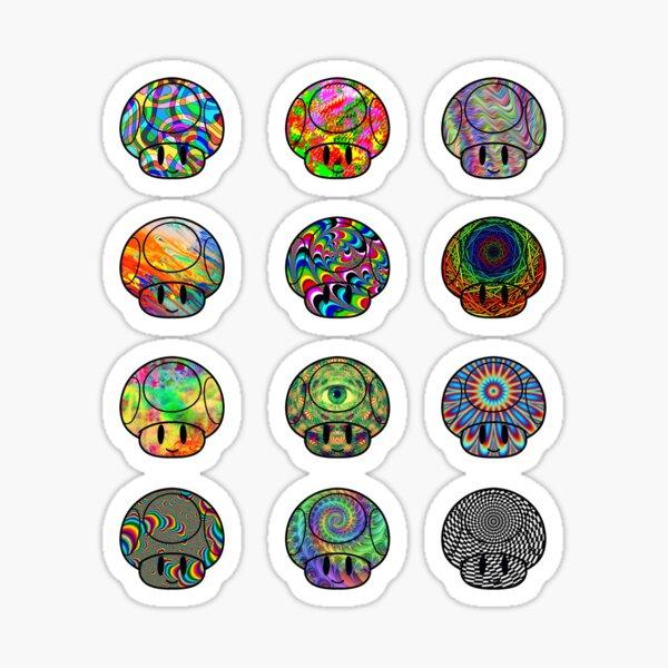 Trippy Mushroom 12 Pack Sticker