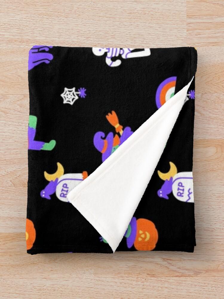 Alternate view of Haunted Halloween Friends Throw Blanket