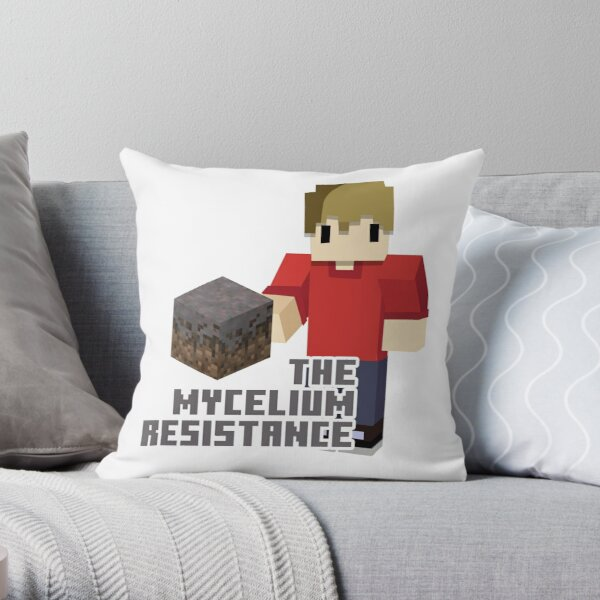 The Mycelium Resistance Throw Pillow