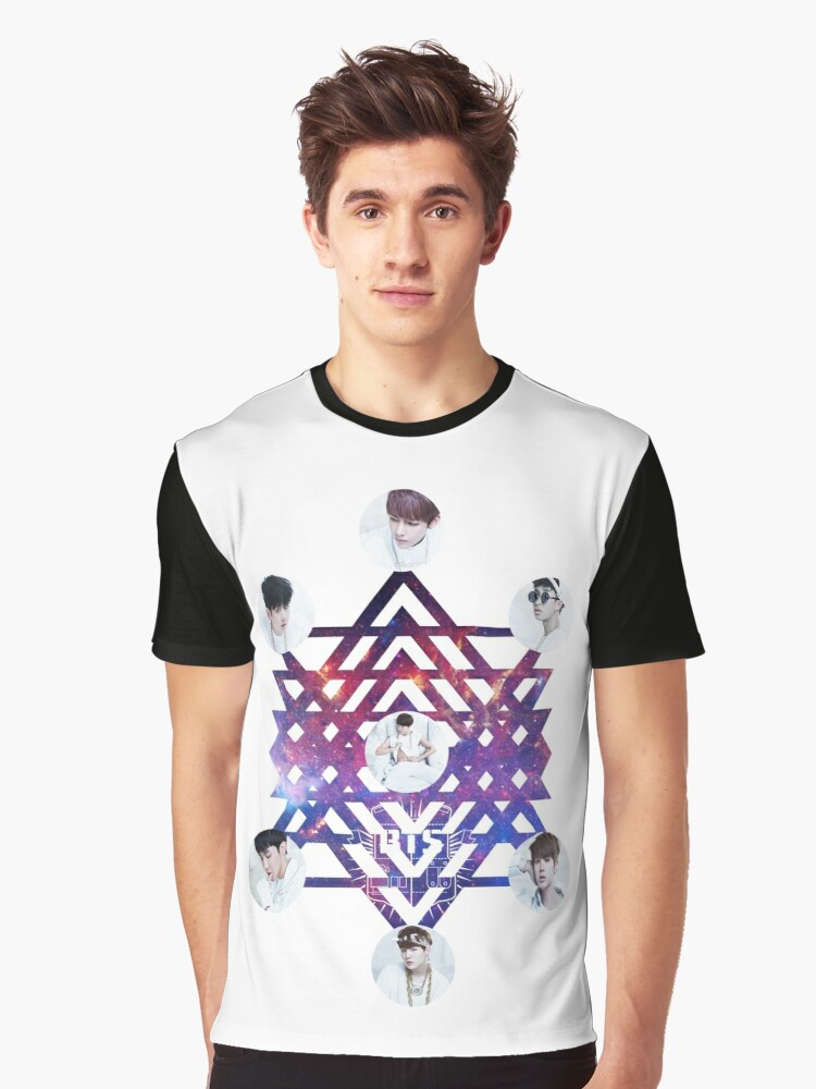 BTS ABSTRACT Graphic T-Shirt Front
