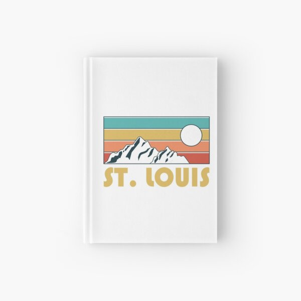 St. Louis Retro Vintage - St. Louis Missouri Mountain Souvenir - Gift - Hometown - Hiking - Nature Hardcover Journal