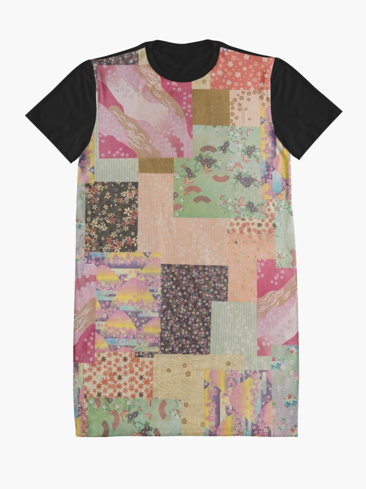Alternate view of Quilted Origami Collage Graphic T-Shirt Dress