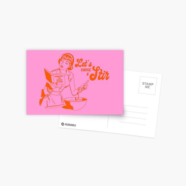 Lets Cause A Stir - The Peach Fuzz Postcard