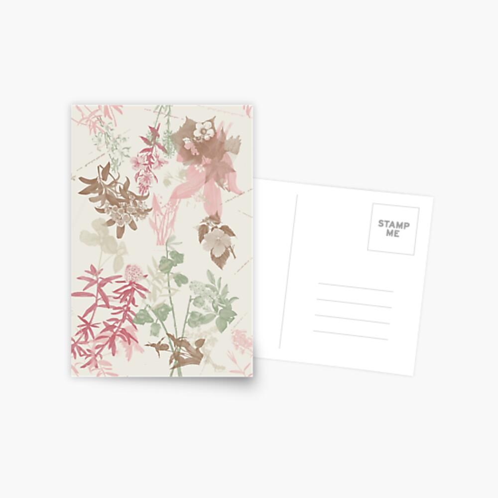 Floral Vintage Postcard
