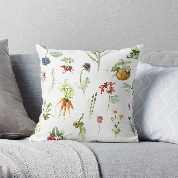 Plantings Throw Pillow
