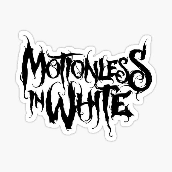 motionless in white logo Sticker