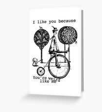 An amusing kind of man Greeting Card