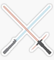 Kylo Ren and Rey Lightsabers Sticker