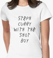 Curry Drake Shot (Black) Women's Fitted T-Shirt