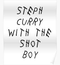 Curry Drake Shot (Black) Poster