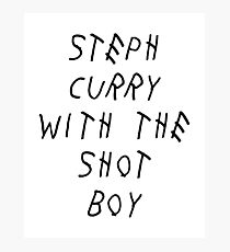 Curry Drake Shot (Black) Photographic Print