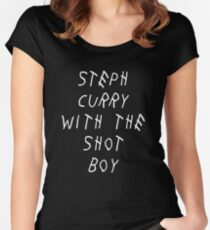 Curry Drake Shot (White) Women's Fitted Scoop T-Shirt