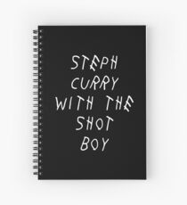 Curry Drake Shot (White) Spiral Notebook