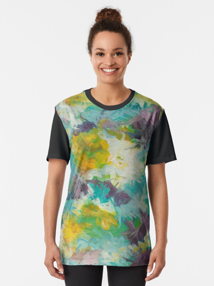 Alternate view of Pastel Abstract Irises Graphic T-Shirt