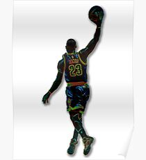 Electric LeBron Poster