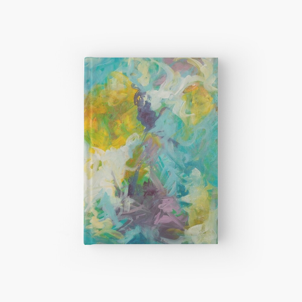 Pastel Abstract Irises Hardcover Journal