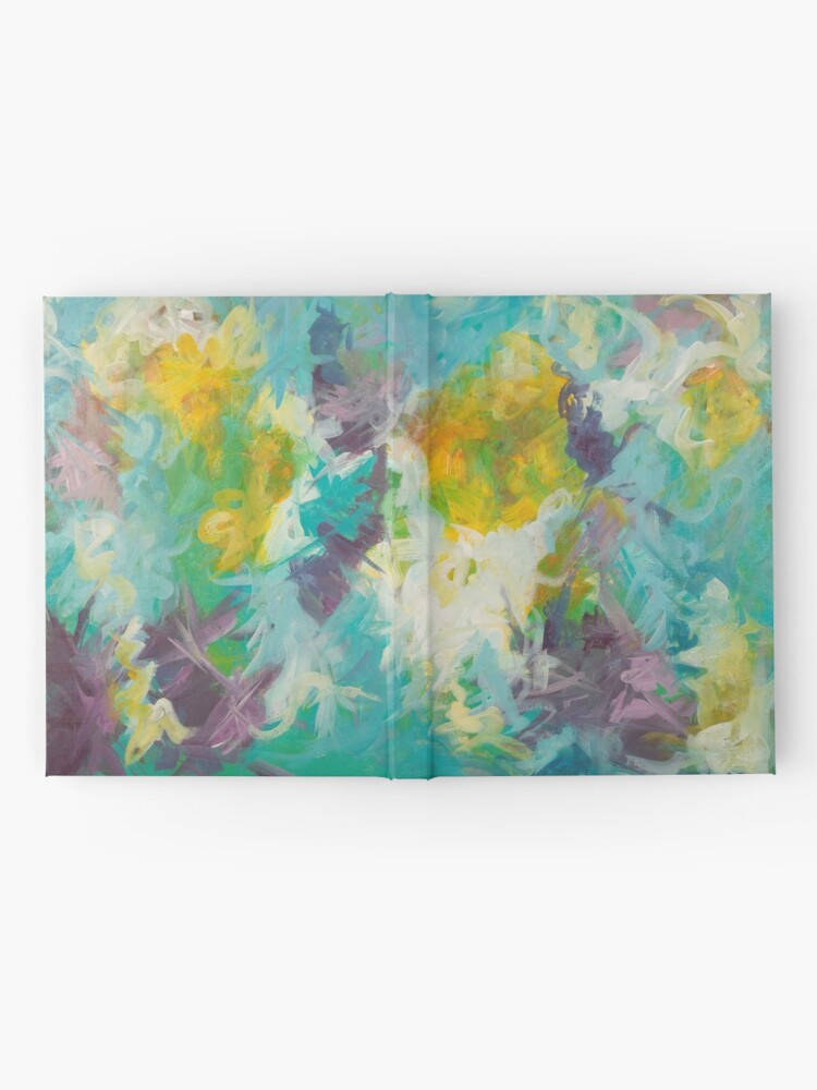 Alternate view of Pastel Abstract Irises Hardcover Journal