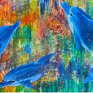 Dolphin Dreamings Mixed Media Painting for Sea Shepherd by Heatherian