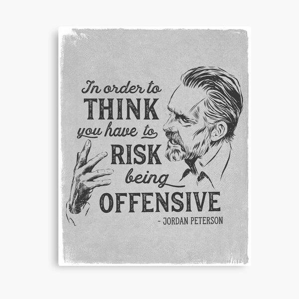Jordan Peterson Illustration and Quote Canvas Print