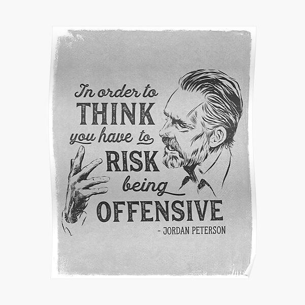 Ilustración y cita de Jordan Peterson Póster