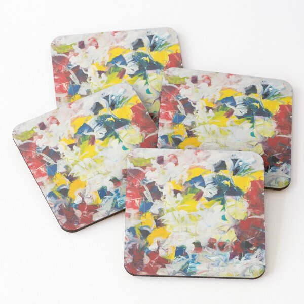 Abstract Petals in Motion Coasters (Set of 4)