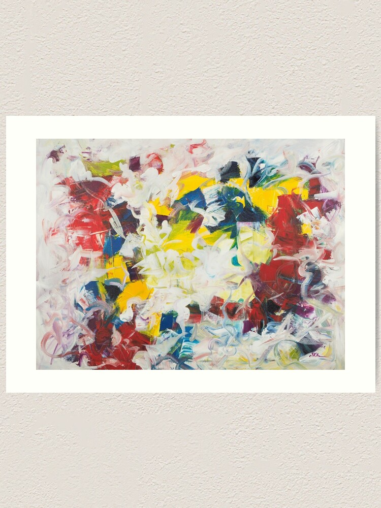 Alternate view of Abstract Petals in Motion Art Print