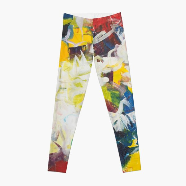 Abstract Petals in Motion Leggings