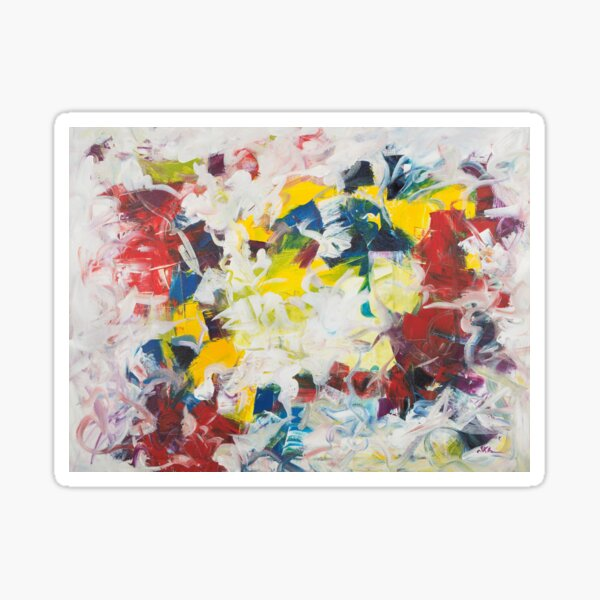 Abstract Petals in Motion Sticker