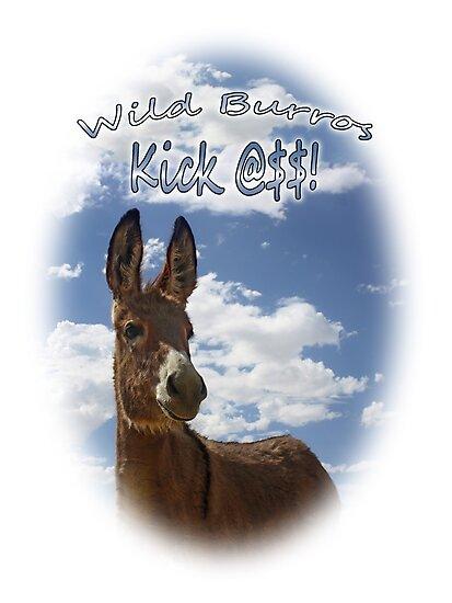 Wild Burros Kick by Corri Gryting Gutzman