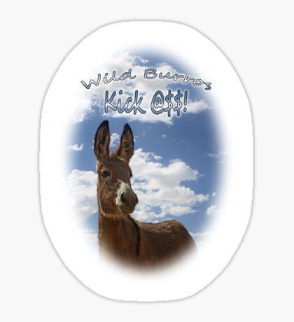 Wild Burros Kick Sticker