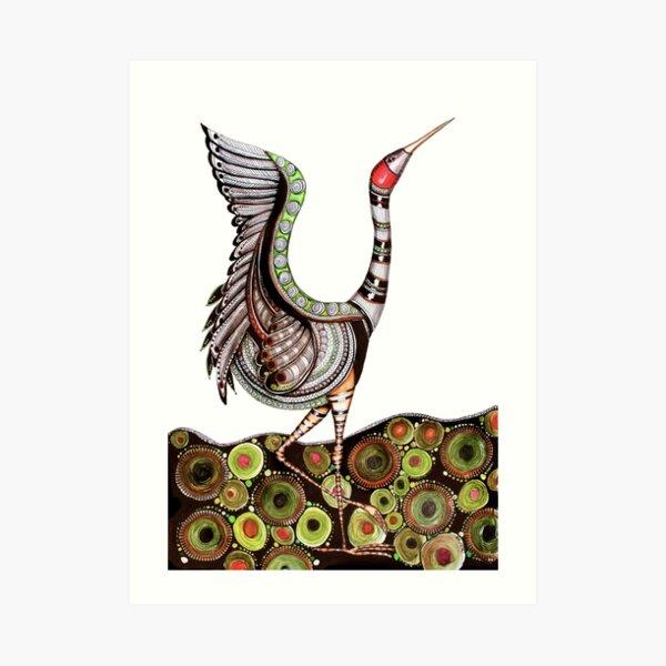 Dancing brolga Art Print