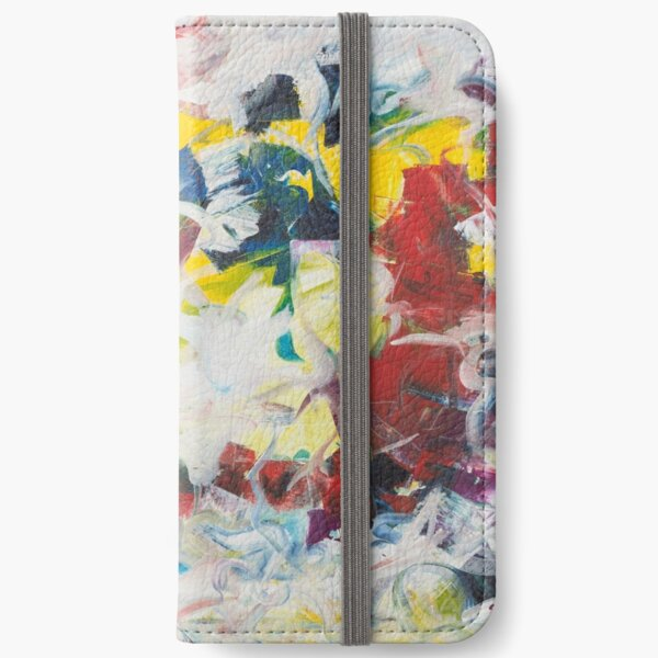 Abstract Petals in Motion iPhone Wallet