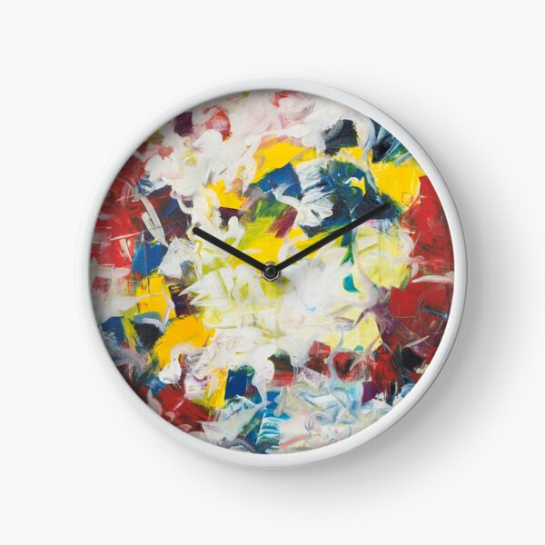 Abstract Petals in Motion Clock