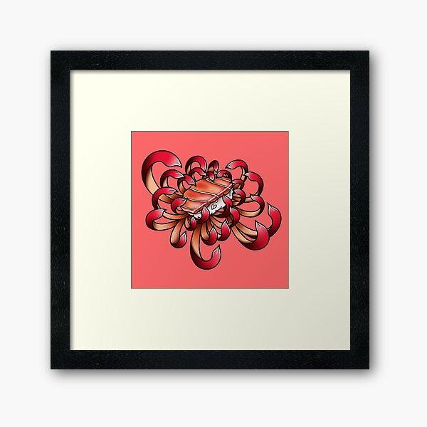 Sushi Chrysanthemum Framed Art Print