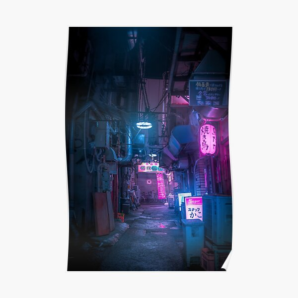 Dark City vibes in Tokyo Poster