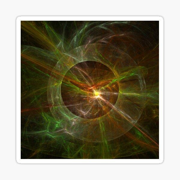 Planetary Explosion Intense Fractal Artwork Sticker