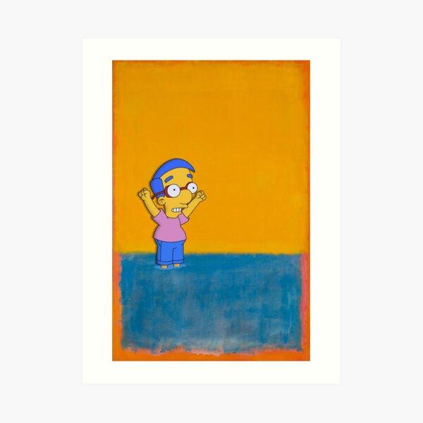Alles kommt auf Gelb, Blau, Orange Kunstdruck