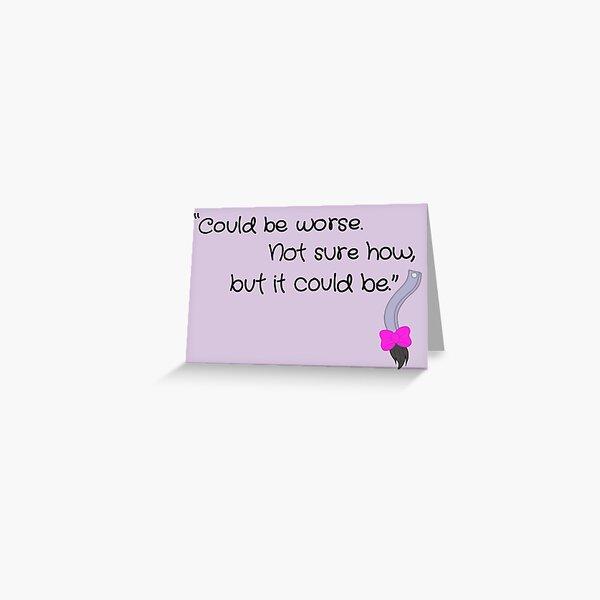 Eeyore  Greeting Card
