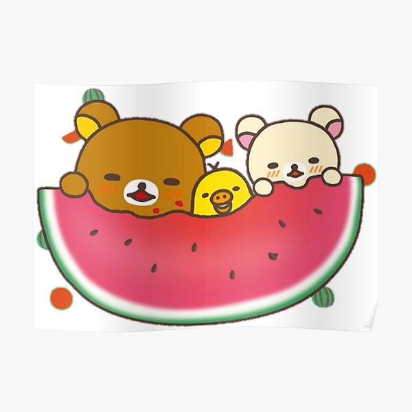 Cute Rilakkuma watermelon Poster