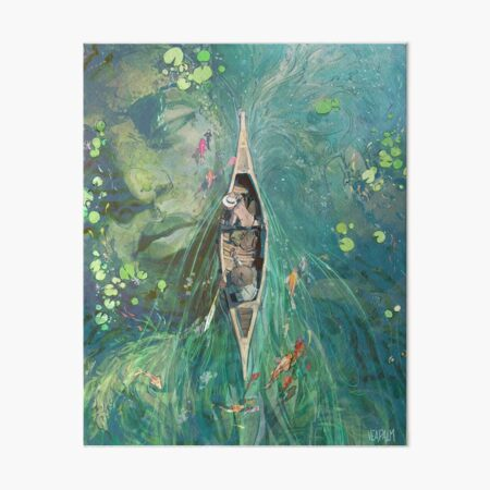 Beneath the Lillies  Art Board Print