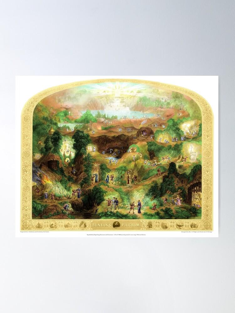 Alternate view of Bunyans Pilgrim - Colour Edition Poster
