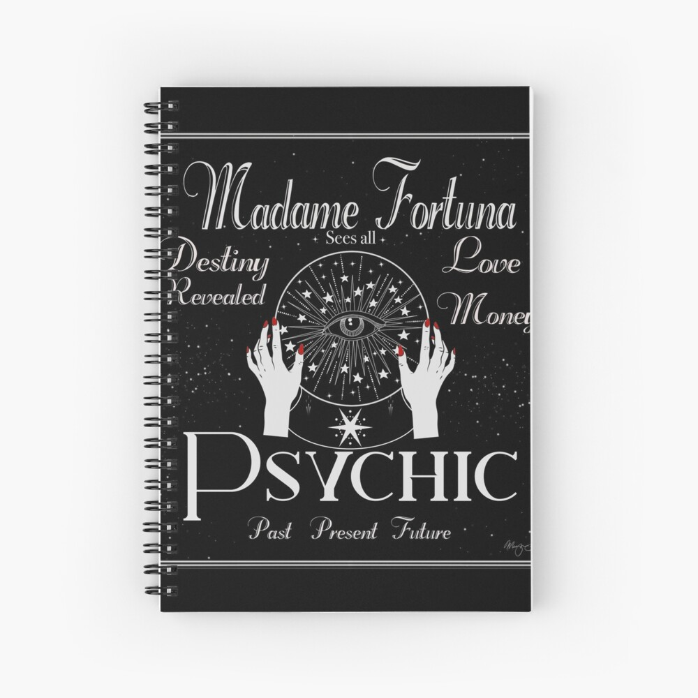 Madame Fortuna Sees All Spiral Notebook