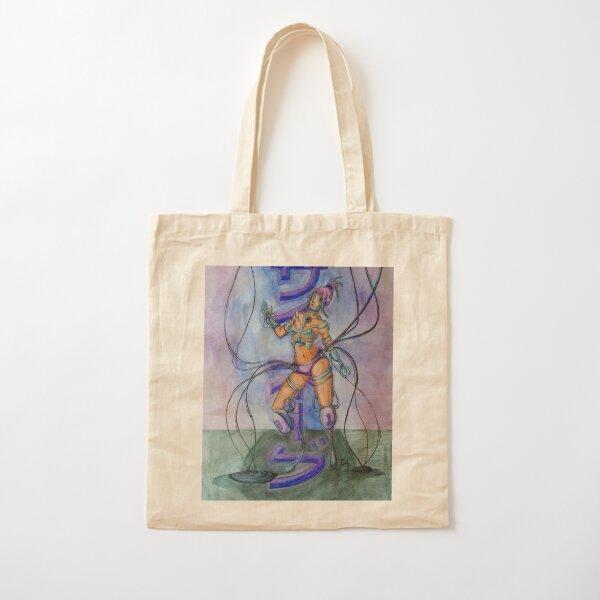 Saibo-gu - Cyberpunk Watercolor Painting of a Cyborg Cotton Tote Bag